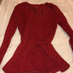 Sparkly red sweater
